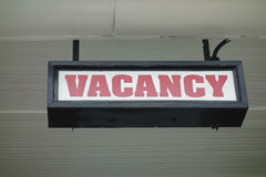 Vacancy Sign Stock Photos