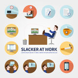 Vacancy for a student infographic elements, Headhunter, Search job. Looking for employee. Search work, Education, Enthusiasm, Careers. Stock vector Royalty Free Stock Image