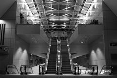 Vacant Airport. Empty concourse at Portland International Airport Royalty Free Stock Photography
