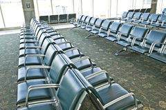 Vacant Airport Seating Area Royalty Free Stock Photography