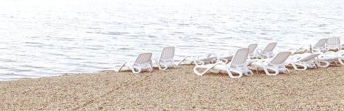 Vacant beach. By Ada Ciganlija lake in Belgrade stock images