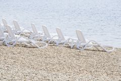 Vacant beach stock image