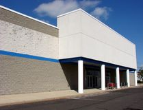 Vacant Big Box Store Abandoned Empty Mall Entrance Stock Photo