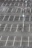 Vacant car parking lot. With white mark and light pole Royalty Free Stock Image