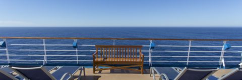 Vacant chairs. Vacant  chairs on deck of luxury cruise ship Royalty Free Stock Photography