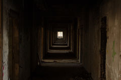 Vacant Dark Square Pathway Royalty Free Stock Images