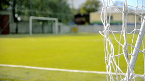 Vacant football field. In summer stock footage