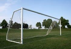 Vacant Goal. A vacant soccer goal, shot near dusk Stock Images