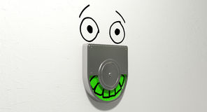 Vacant Green Relief Defacement Royalty Free Stock Images