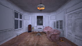 Vacant house. 3D CG rendering of the vacant house stock photography