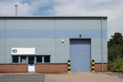 Vacant industrial unit. On modern industrial estate Stock Photography