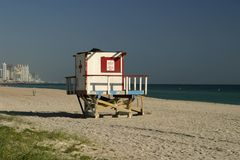 Vacant Lifeguard Shack Royalty Free Stock Photo