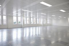 Free Vacant Open Plan Office Space With Windows Stock Images - 108951384