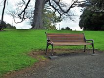 Vacant park bench Royalty Free Stock Photography