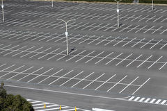 Vacant parking lot. Parking lane outdoor in public Stock Photography