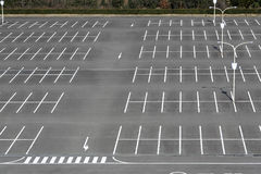 Vacant parking lot Stock Images