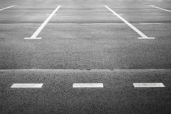 Vacant parking place on gray asphalt Stock Images