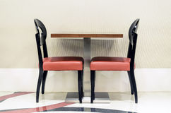Vacant Red Chairs Royalty Free Stock Photography