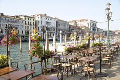 Vacant restaurant in Venice Royalty Free Stock Image