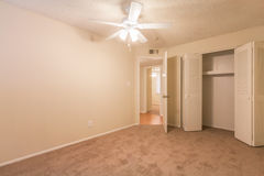 Vacant Room With Ceiling Fan Stock Photography