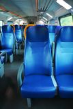 Vacant seats inside an Italian modern train stock photography