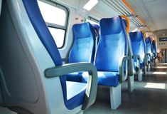 Vacant seats and Italian train Stock Images