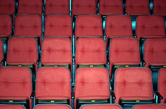 Vacant seats of a theater Stock Photo