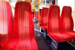 Vacant seats train Royalty Free Stock Photography