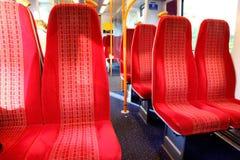 Vacant seats train. Vacant seats inside a train Royalty Free Stock Photography