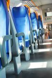Vacant seats and train Stock Photography