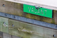 Vacant Sign Royalty Free Stock Images