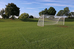 Vacant Soccer Net Stock Images