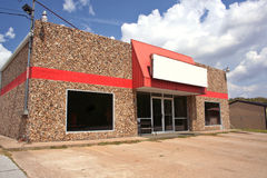 Vacant Store. Former Video Store. Vacant Building Royalty Free Stock Photo