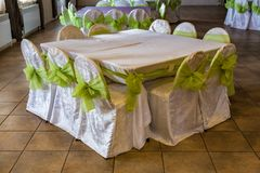 Vacant table in the cafe Stock Photography