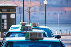 Vacant taxi parking, Porto, Portugal Stock Photography