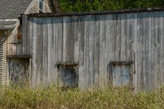 Vacant. Building at Stennett, Iowa Stock Images