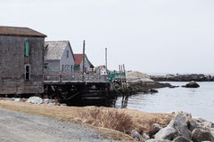 Nova Scotia Wharf Royalty Free Stock Photography