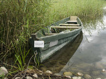 Vacant Wooden Boat Stock Images