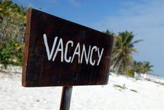 Vacante de la playa Fotografía de archivo libre de regalías