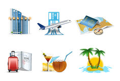 Vacantion and holiday icons Stock Image