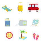 Vacantion And Travel Icons Stock Image