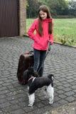 Vacanza con il cane immagine stock