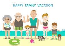 Vacanza del carattere della famiglia Fotografia Stock Libera da Diritti