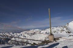 Vacanza del pattino in Alpes Fotografia Stock Libera da Diritti