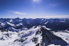 Vacanza del pattino in Alpes Immagini Stock Libere da Diritti