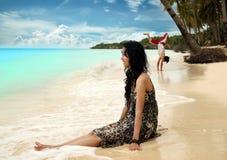Vacanza della spiaggia Fotografia Stock