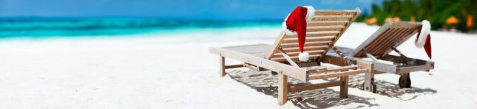 Vacanza della spiaggia di Natale Fotografia Stock
