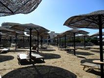 Vacanza della spiaggia in Grecia Fotografia Stock Libera da Diritti
