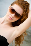 Vacanza di estate ottenuta fotografia stock