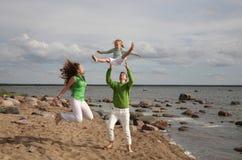 Vacanza di famiglia Immagine Stock